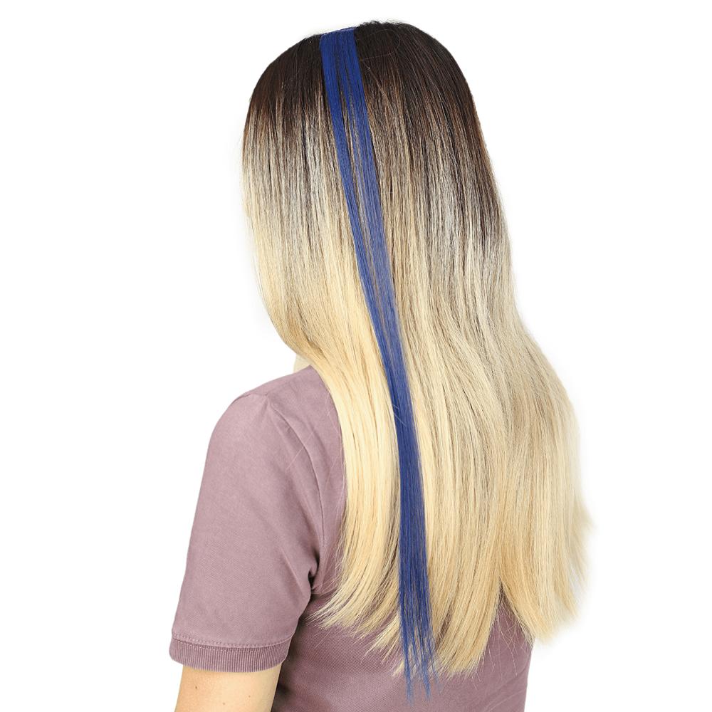 Renkli Sentetik Tekli Çıt Çıt-Koyu Mavi